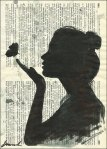 Book Art_girl with butterfly