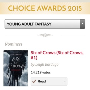 goodreads six of crows