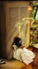 girl book art