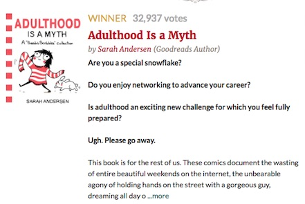 adulthood is a myth goodreads choice 2016.jpg