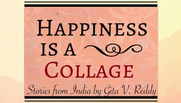 happiness is a collage banner