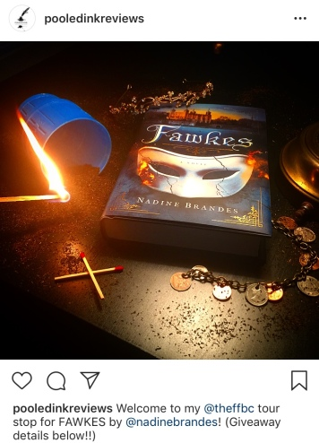 Fawkes book tour Bookstagram photo_pooled ink