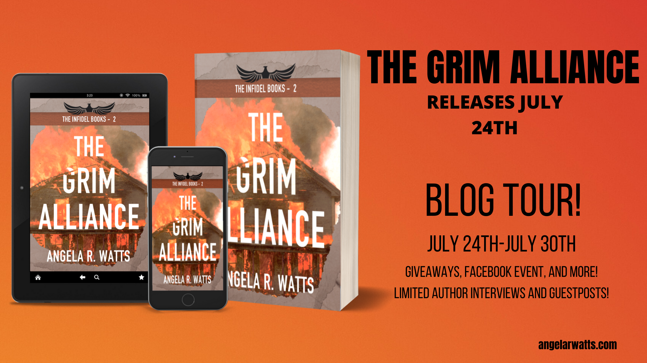 The Grim Alliance blog tour banner